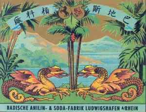 Historische Werbeplakate der BASF: Mit der Farbe des Kaisers auf »Kundenfang«. © Corporate History / Unternehmensarchiv BASF (Ludwigshafen)