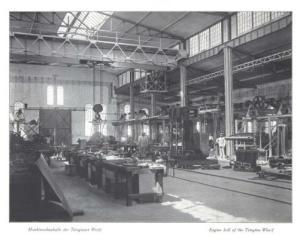 Maschinenbauhalle der Tsingtauer Werft, 1910. © Bundesarchiv